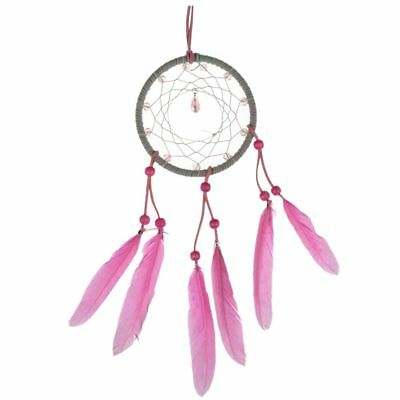New Pink Feather Dream Catcher Wall Car Hanging Decor Ornament Handmade Gif R3H2