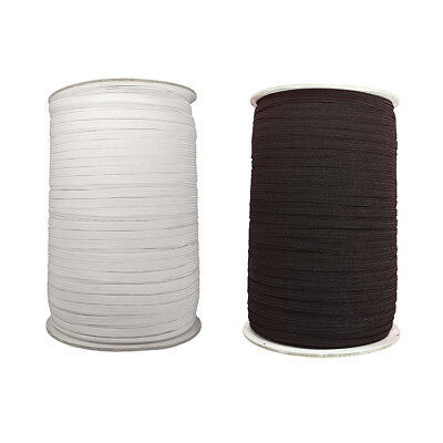 5mm Elastic Flat Cord for Sewing Clothing Trousers Waist Trim Work Black/White