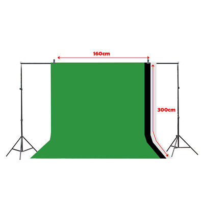 White Green 1.6*3M Photography Studio Non-woven Backdrop Photo Background Screen