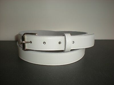 25mm Slight second white leather belts S to X large sizes  £2.99 TR1