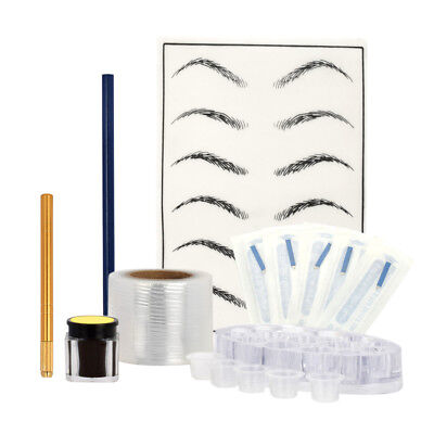 8 Styles Microblading Makeup Eyebrow Tattoo Needles Pen Pigment Holder Kits