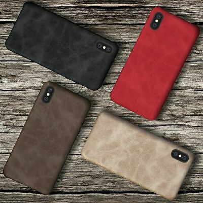 Luxury Ultra Thin PU Leather Back Skin Case Cover For iPhone X 7 6 6S Plus