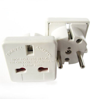 UK to EU Euro France Germany Hungary Poland Portugal Spain Travel Adapter Plug