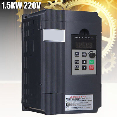 1.5KW 2HP 220V Single Phase Input To 3 Phase Output Variable Frequency Converter