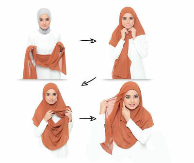 Ready to Wear Chiffon Hijab One Piece Hijab ✿ Ready Made Pull on Instant Scarf