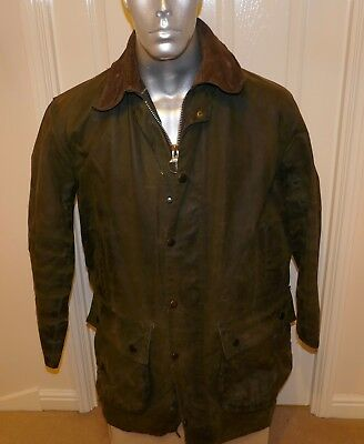 CLASSIC BARBOUR NORTHUMBRIA A400 WAX JACKET, OLIVE, C40 HUNTING, OUTDOORS (no15)