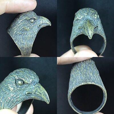 Lovely Ancient Roman Bronze Wonderful bird Ring