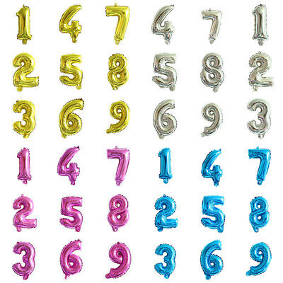 7inch Giant Foil Balloons Number Shape Helium Wedding Birthday Party Christmas