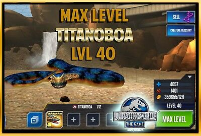 Jurassic WORLD The Game Builder MAX LEVEL TITANOBOA package Android iOS park