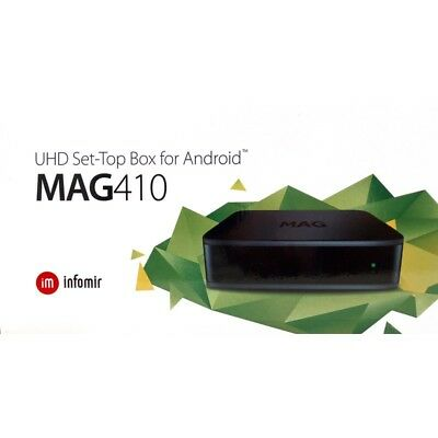 MAG 410 4K Box IPTV stalker Android MyTV -WIFI -2GB/DDR3 RAM 8Gb Flash