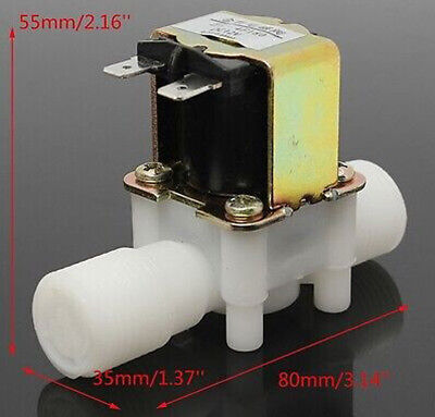 "DC 12V Electric Solenoid Valve Magnetic N/C Water Air Flow Switch 1/2"" BSG"