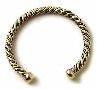 Bronze Norse Viking Spiral Twisted Cable Bangle Cuff Bracelet Arm Ring Jewelry 6
