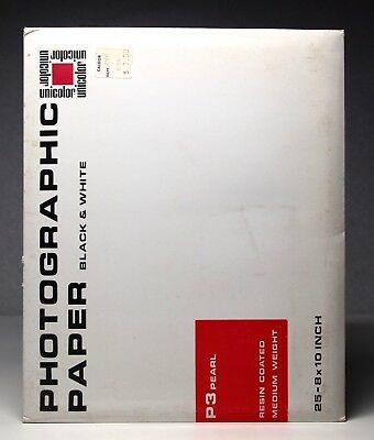 Unicolor P3 Pearl Resin Coated Photographic Paper 8x10