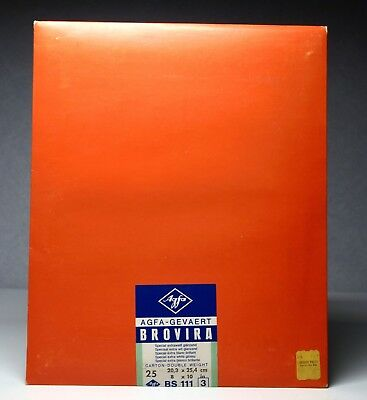 Agfa Brovira BS-111 Gr 3 8x10 Glossy Photographic Paper Glossy