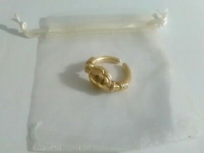 Egyptian Scarab Ring - Gold Plated In 22ct With A Organza Gift Bag