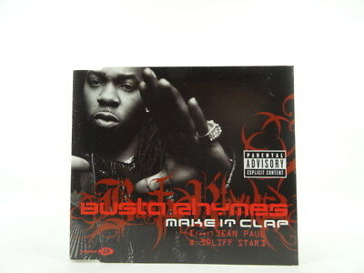 BUSTA RHYMES, MAKE IT CLAP, EX/VG, 3 Track, CD Single, Picture Sleeve, J RECORDS