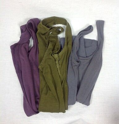 Lot Of 3 MOSSIMO Womens Sleeveless Tops Green Purple Gray Size XS FREE SHIPPING
