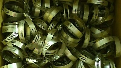 """Lot of 20 x Ideal Tridon Hose Clamps Size #28 / 32-57mm 1-1/4 - 2-1/4"""" Brand New"""