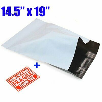 14.5x19 Quality Poly Mailers Envelopes Self Sealing Plastic Bags Free Shipping
