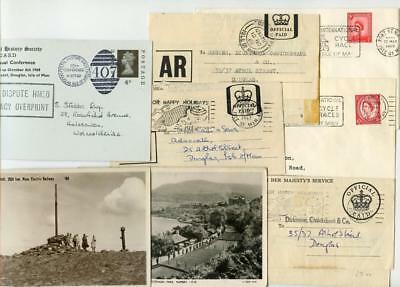 8 Pieces of QEII Pre Decimal Postal History with Isle of Man interest.