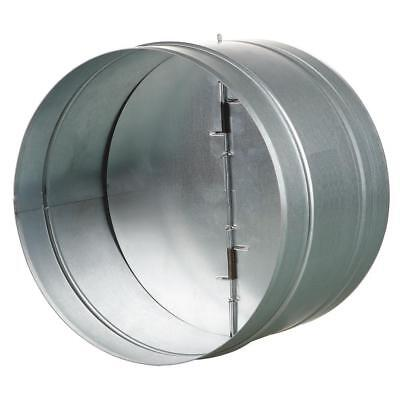Vents-Us 4-Inches Galvanized Steel Spring Loaded Back Draft Damper-Rubber Seal