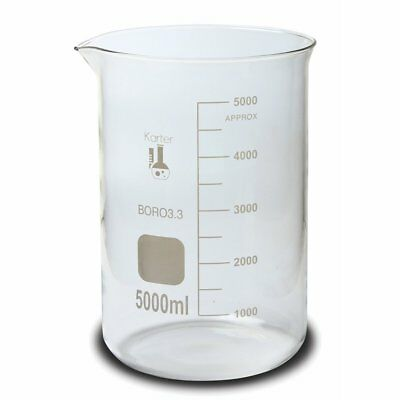 Karter Scientific, 5000 ml Low Form Graduated Glass Beaker (single)