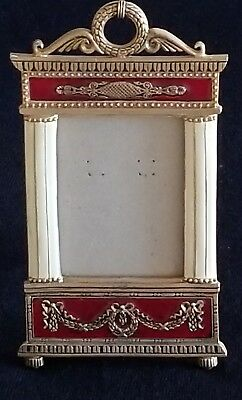 VINTAGE TERRAGRAFICS BRONZE PICTURE FRAME French Style Enameled GILDED NICE