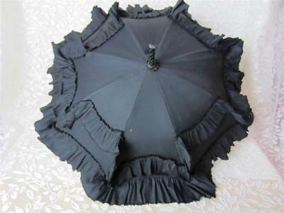 Carriage Parasol - Civil War Era Folding Tilt Top Antique Umbrella - 1860 Paris