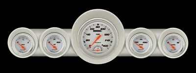 Velocity White 59-60 Chevy Gauges w/Speedtachular Classic Instruments CH59VSW65