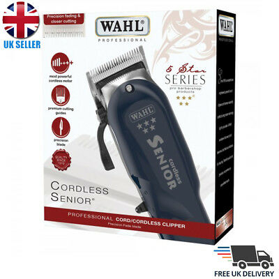 WAHL PROFESSIONAL 5 STAR SENIOR CORDLESS HAIR CLIPPER *UK* | Mens Clipper