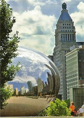 Postcard Illinois IL Chicago Millennium Park Cloud Gate Anish Kapoor  MINT
