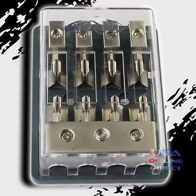 MAXI FUSE PLATINUM DISTRIBUTION BLOCK (3) 2/4 GA IN FOUR 8 GAUGE OUT 12V 4 Gang