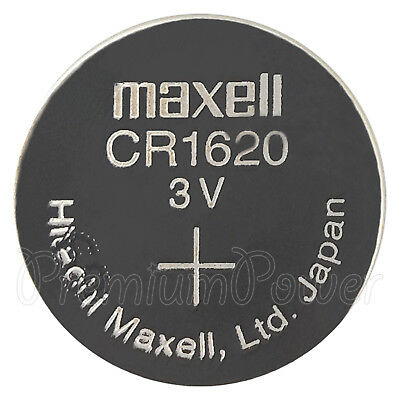 1 x Maxell Lithium CR1620 battery 3V Coin Cell DL1620 KCR1620 ERC1620 Watches