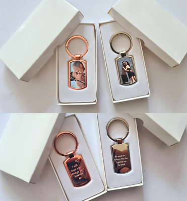 Personalised Photo Printed Premium Keyring - with OR without engraved reverse