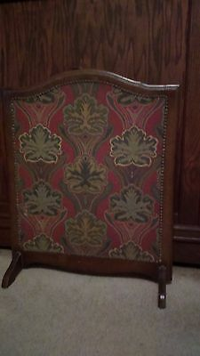 Antique Victorian Double sided wood Frame Tapestry Fireplace Screen cover