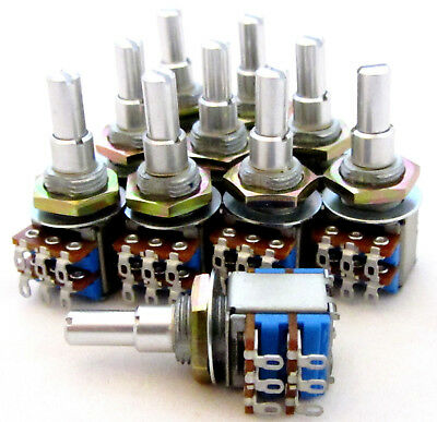 10 Lot Tocos Concentric Pot A250K  A3K Dual Audio Taper Potentiometer 250K 3K BY