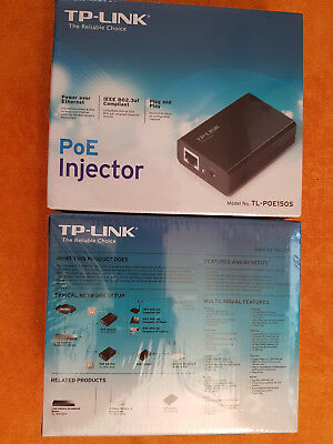 2 x TP-LINK   neu   Power over Ethernet  TL-POE150S  PoE Injektor   LAN DSL RJ45