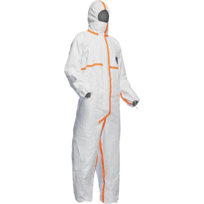 Tyvek Chef 5 White Classic Xpert Type 5 & 6 Fitter Suit/Jumpsuit Size XXL E4