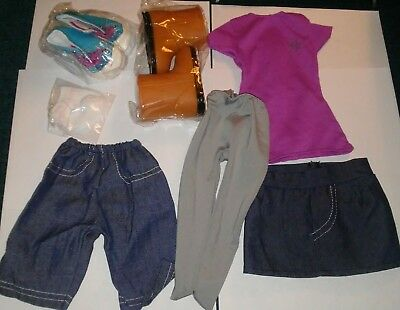 New Lot DOLL CLOTHES--Boots Sneakers Dress Skirt Tights Jeans fits american girl