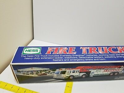 NEW  in Box 2000 HESS Toy Fire Truck FREE SHIPPING!!!