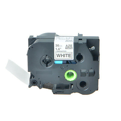 """1PK TZe261 TZ261 Black on White Label Tape 36mm 1.5"""" For Brother P-Touch PT-530"""