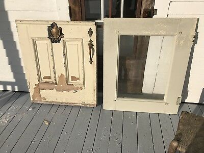 Antique Great Exterior Front Dutch Door W/ Eagle Knocker Heavy Duty 81.5 x 34.25