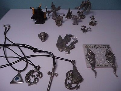 Lot of 15 Pewter Wizards Dragons Fantasy Figures Some Signed Meirer Puka & MORE