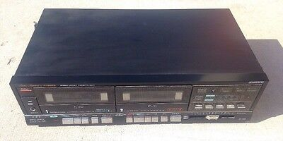 Vintage Fisher CR-W81 Studio Series stereo Dual Cassette Deck. Free Shipping