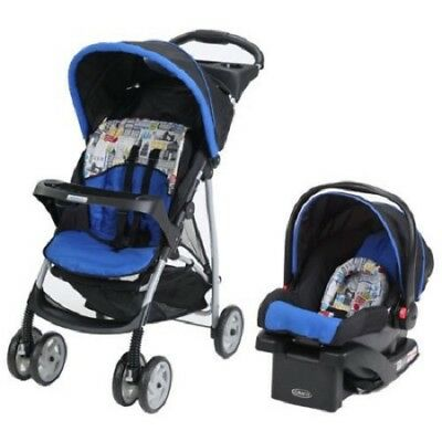 Graco LiteRider Click Connect Travel System, Car Seat Stroller - Tripster New!