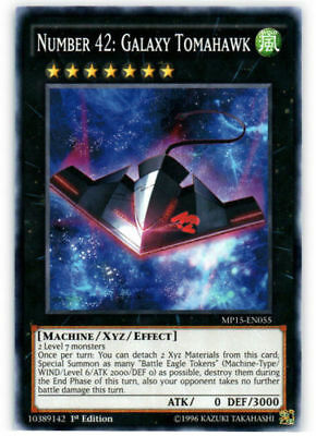 Yu-Gi-Oh MP15-EN055 Number 42: Galaxy Tomahawk Common 1st Edition