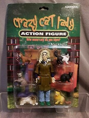 "Accoutrements Crazy Cat Kitten Lady 5.5"" Action Figure 2004"