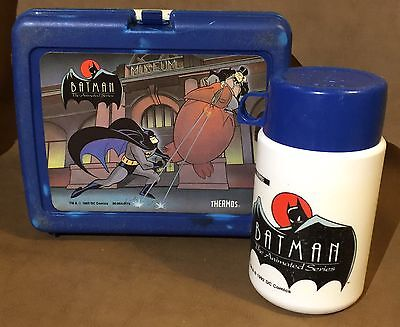 Batman The Animated Series Lunch Box Vintage 90s Plastic Thermos Brand 1993