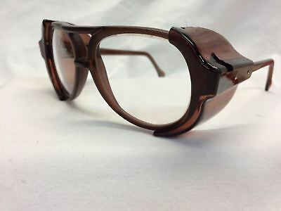AMERICAN OPTICAL AO Vintage New Old Stock Safety Glasses Pilot Brown Clear