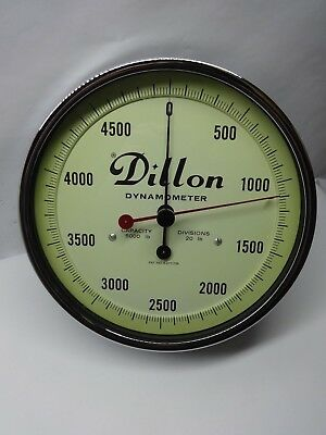 Dillon Dynamometer 5000lb Capacity 20lb Divisions w/ case